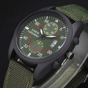 Russian Army Mens Big Face Canvas Strap Sports Watches - DealsBlast.com