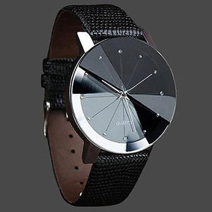 Hot! Men Fashion Luxury Stainless Steel Quartz Sport Faux Leather Band Wrist Watch - DealsBlast.com