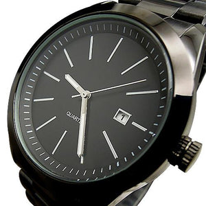 SPORT WATER QUARTZ HOURS DATE HAND LUXURY CLOCK MEN STEEL WRIST WATCH - DealsBlast.com