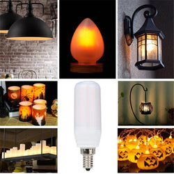 LED Flame Fire Light Effect Simulated Nature Corn Bulbs E14 Decoration Lamp - DealsBlast.com