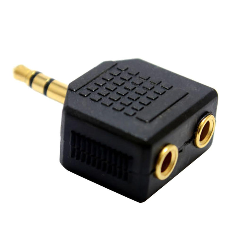 3.5mm Stereo Jack Headphone Splitter Adaptor 1 Plug to 2 Sockets - DealsBlast.com