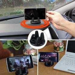 Universal Car Holder Rotatable Soft Silicone Anti Slip Mat Mobile Phone Mount Stands Bracket Support for iPhone 5 6 6s 7 GPS - DealsBlast.com