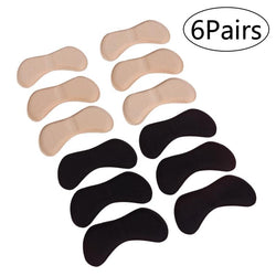 6 Pairs Self Adhesive Heel Pads Grips Liners Butterfly Shaped Sponge Back Heel Cushion for High Heels Blisters - DealsBlast.com
