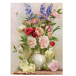 Diamond Mosaic Cross Stitch 5d Diamond Embroidery flower rose vase home decor diy Diamond painting flower - DealsBlast.com