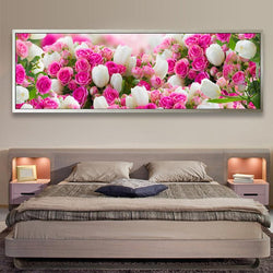 Bedside decoration 5D DIY tulips flowers picture diamond painting cross stitch diamond embroidery mosaic pattern wall sticker - DealsBlast.com