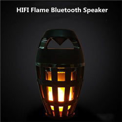 Bluetooth Wireless Speaker Portable Waterproof Stage Atmosphere Torch Light