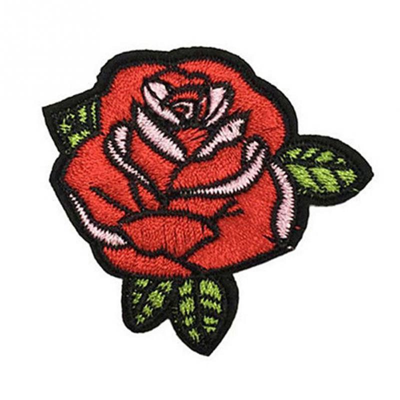 2PCS Red Rose Flower Embroidery Applique Cloth DIY Sewing & Iron on Patch Badge - DealsBlast.com