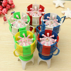 Party Decoration Football Cup Candle Holder Automatic Flowering Music Candle Bracket Birthday Gift