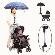 NEW Adjustable Umbrella Holder Bracket Pram Swivel Connector Bicycle Baby Stroller - DealsBlast.com