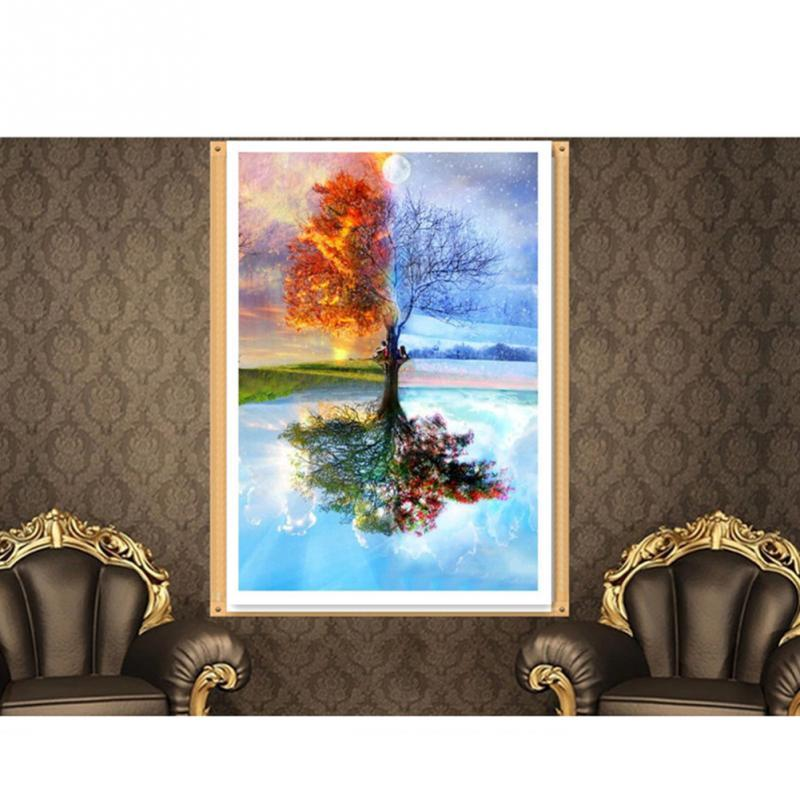 100% Full DIY 5D Diamond Painting Seasons Tree Cross Stitch Diamond Embroidery Patterns rhinestones Diamond Mosaic - DealsBlast.com