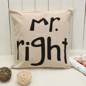 1pc Hot Selling Fashion New Charming Creative Funny Lovely Alphabet Home Bed Sofa Car Cushion Cover Pillow Case Gift - DealsBlast.com