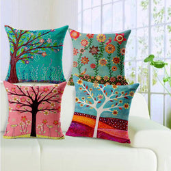 Natural Style Fashion New Flower Cushion Tree Print pillow Bed Sofa Home Decorative Pillow - DealsBlast.com