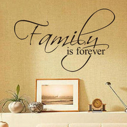 20x6 New Design Family Is Forever Home Decoration Quote Wall Decal Decorative Removable Vinyl Wall Sticker - DealsBlast.com