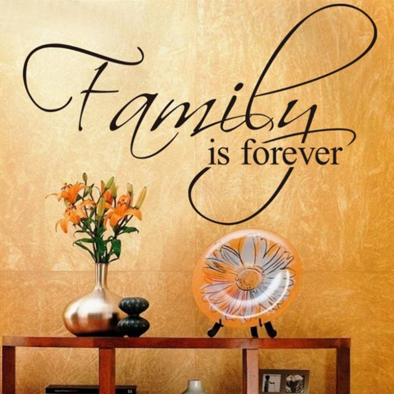 20x6 New Design Family Is Forever Home Decoration Quote Wall Decal Dec