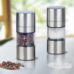 Stainless Steel Manual Salt Pepper Mill Grinder Portable Kitchen Mill Muller Tool Good Quality - DealsBlast.com
