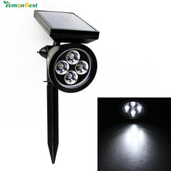 Waterproof IP65 100LM Solar 4 LED Lawn Light Outdoor Garden Path Lamp Decoratoin with Spike Cool white Lawn lamp - DealsBlast.com