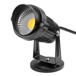 US Plug 5W COB LED Lawn Light Garden Floodlight with Base Yard Patio Path Spotlight Lamp Waterproof Cool / Warm White AC85-245V - DealsBlast.com