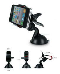 T face Car styling Windshield Mount Holder Stand for Iphone for Samsung IOS Android Mobile phone accessories GPS Black - DealsBlast.com