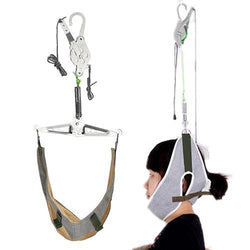 Pain Relief Hanging Neck Stretcher Neck Cervical Traction Stretch Gear Brace Kit - DealsBlast.com