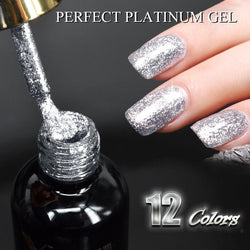 New Venalisa supply nail art Venalisa 12ml 12 color supper diamond shining glitter sequin starry platinum paint gel