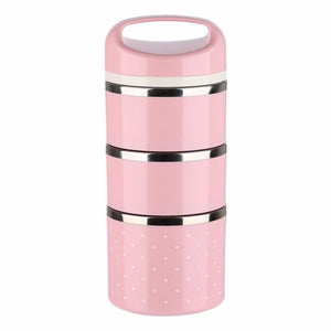 Portable Japanese Box Leak-Proof 3 Layers Stainless Steel Thermal Lunch Boxs For Kids Picnic Container For Food Storage - DealsBlast.com