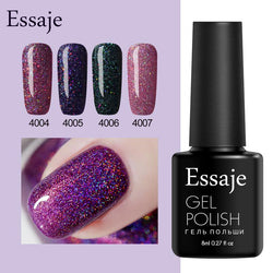 Essaje Glitter Neon Nail Gel for Full Set Gel Manicure Colorful Lacquer Shiny Color Nail Art need UV Led lamp Gel Nail Polish