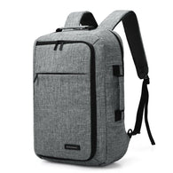 Unisex 15.6 Laptop Backpack Convertible Briefcase 2-in-1 Business Travel Luggage Carrier - DealsBlast.com
