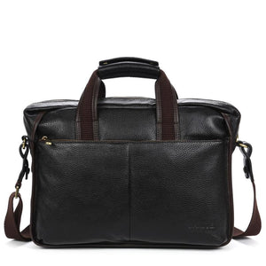 High quality cow genuine leather men handbags brand fashion men's business briefcase bag big capacity men laptop bag - DealsBlast.com