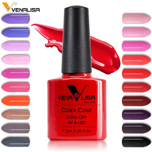 Nail Art Design Manicure Venalisa 60Color 7.5Ml Soak Off Enamel Gel Polish LED UV Gel Nail Polish Lacquer