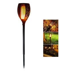 Solar-powered LED Flame Lamp Waterproof 96LEDs Dancing Flickering Torch Light Outdoor Solar LED Fire Lights Garden Decoration
