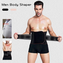 Waist Slimming Belts Men Belly Training Tool Wrapper Slim Belt Shape Body Girdle Tummy Corset Supports Braces Size M-2XL A4 - DealsBlast.com