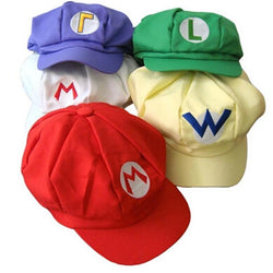 5 colors Luigi Super Mario Bros Cosplay Cap Adult Hat Dad Hat Bone Caps adjustable Buckle cap