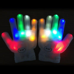 7Colors Kids gants femme sexy Kids Fingertip LED Gloves Rainbow Flash Light Glow Stick Gloves Mittens