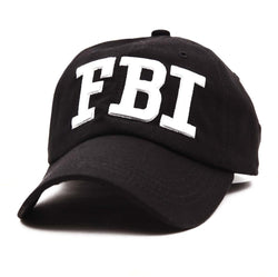 Men summer hat men tide FBI embroidered baseball cap outdoor sports sunshade hat casual fashion male sun hat