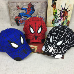 Spiderman Cartoon Children Embroidery Cotton Baseball Cap kids Boy Girl Hip Hop Hat Spiderman cosplay hat