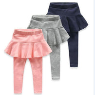 Girl Legging Skirt-pants Cake Skirts Baby Girl Spring/Autumn Warm Leggings Children's Girls Trousers Boots For 2-5 Years Kids