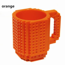Build-On Brick lego Mug DIY Bulding Blocks Coffee Mugs 350 ml Creative Drinkware BPA  mug Birthday Gifts Tazas milk cup