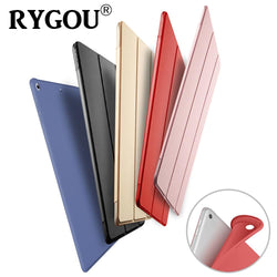 For iPad Air 1 Air 2 Case Silicone Soft Back Slim Pu Leather Smart Cover for New iPad 9.7 inch 2017 2018 A1822 A1823 A1893 A1954