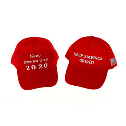 2020 Donald Trump Red Hat Re-Election Keep America Great Embroidery USA Flag MAGA Cap Cotton Baseball Hat Cap For Trump Hat