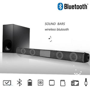 Wireless Bluetooth Home Theater TV Soundbar Portable 3D Stereo Speaker With FM and U disk 3.5mm audio