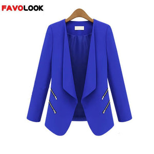 New Spring/Autumn Office Lady Blusa Suit Long Sleeve Solid Casual Coat For Women Jacket Outerwear Plus Size S-XL