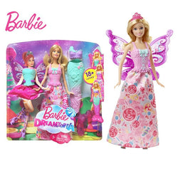 Barbie Fairy Tale Mermaid Dress Up Doll Girl Toys Gift Set Birthday Christmas Present Toys Gift For Children