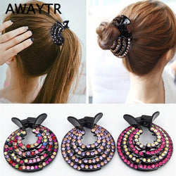 New Half-balloon Hair Clip Women Nest Expanding Rhinestone Hairpin Girls Fashion Hair Claws Hair Bun Holders Accessories
