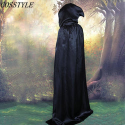 S-XL Halloween Costumes for Adult Child Witch Costumes Black/Silver Hooded Cloak Death Vampire Cosplay Costumes