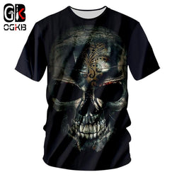 Tee Shirt Man New O Neck 3D Printed Skull Funny Large Size Habiliment Homme Summer T Shirts