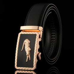 New Designer Automatic Buckle Leather men belt famous brand Luxury belts for men - DealsBlast.com