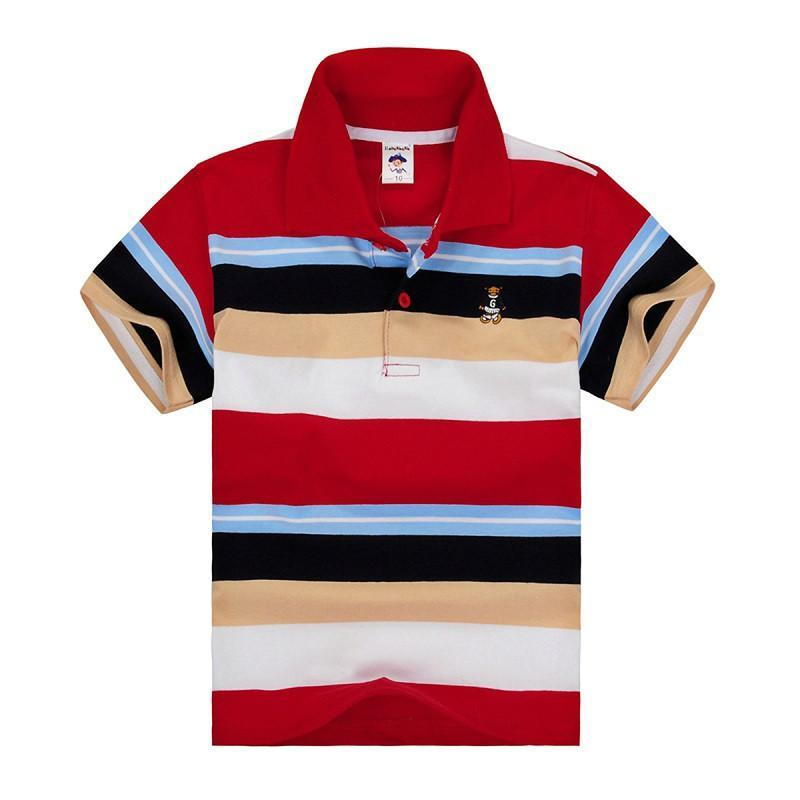Polo Shirt For Kids Clothes Summer Short Sleeve Cotton T-shirts - DealsBlast.com