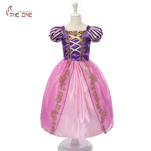 Girls Rapunzel Dress Up Kids Snow White Princess Costume Children Cinderella Aurora Sofia Halloween Party Cosplay Dress