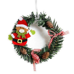 Christmas Wreath Wood Christmas Decor For Home Santa Snowman Grand Tree Christmas Gift Xmas Ornament Pendant