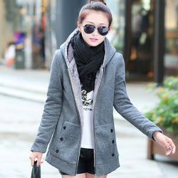 New Fall Winter Women Coat Thick Velvet Hoodies Sweatshirt Casual Long Sleeve Hoodies Female Outwear Winter Warm Jacket